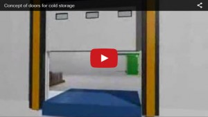 The concept of doors for cold storage