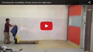 Checking the sensibility of loop sensor for rapid door