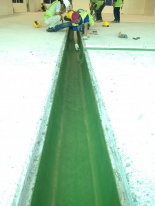PU coating for open drainage